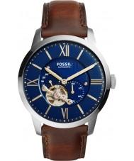 Fossil ME3110 Męska mieszczanina ciemnobrązowy skórzany pasek zegarka