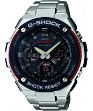 Casio GST-W100D-1A4ER Radio Mężczyźni g-shock kontrolowane zasilany energią słoneczną srebrny zegarek
