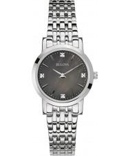 Bulova 96S148 Panie galerię diamentowa bransoletka zegarek srebrny stal