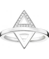 Thomas Sabo D-TR0019-725-14-54 Panie Glam i duszą 925 srebrny pierścionek z brylantem - O ROZMIAR (UE 54)