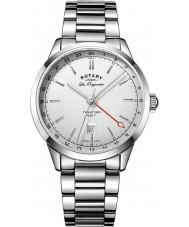 Rotary GB90181-02 Mężczyźni les originales tradycja srebrny zegarek bransoleta ze stali