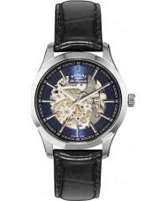 Rotary GS90525-05 Mężczyźni les originales nierdzewnej czerni zegarek automatyczny