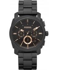 Fossil FS4682 Maszyna Mens Chronograph zegarek stal czarna