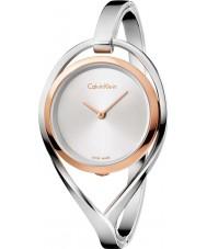 Calvin Klein K6L2MB16 Panie srebrnym świetle stalowa bransoletka zegarek