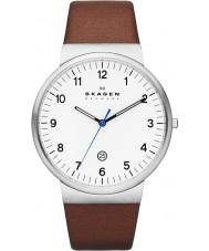 Skagen SKW6082 Mężczyźni Klassik brązowy skórzany pasek zegarka