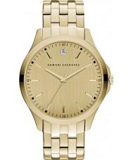 Armani Exchange AX2167 Mens Sukienka pozłacana bransoletka zegarek