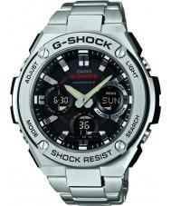 Casio GST-W110D-1AER Radio Mężczyźni g-shock kontrolowane zasilany energią słoneczną srebrny zegarek
