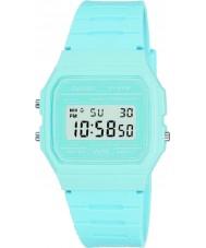 Casio F-91WC-2AEF Mężczyzna retro kolekcja pastelowy niebieski zegarek chronograf