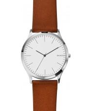 Skagen SKW6331 Mężczyźni Jorn jasnobrązowy skórzanym paskiem zegarek
