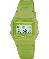 Casio F-91WC-3AEF Męskie kolekcja retro zielony zegarek chronograf