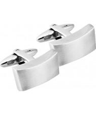 Inspirit STC14 Męskie srebrne spinki do mankietów ze stali