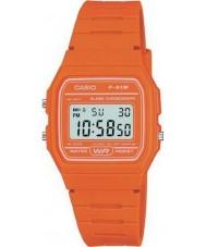 Casio F-91WC-4A2EF Męskie kolekcja retro pomarańczowy zegarek chronograf