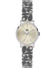 Orla Kiely OK2043 Panie Patricia Krem żołądź pasek skórzany zegarek druku