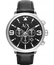Armani Exchange AX1371 Mens miejskiego czarny skórzany pasek zegarka chronograf