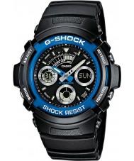 Casio AW-591-2AER Mężczyźni g-shock zegarek sportowy chronograf czarna