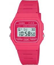 Casio F-91WC-4AEF Męskie kolekcja retro różowy zegarek chronograf