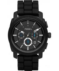 Fossil FS4487 Maszyna Mens Chronograph czarnej gumy pasek zegarka