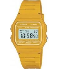 Casio F-91WC-9AEF Męskie kolekcja retro żółty zegarek chronograf