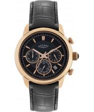 Rotary GS02879-04 Zegarki męskie chronograf monako czarny zegarek