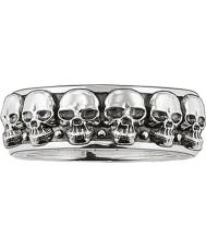 Thomas Sabo TR1878-001-12-62 Mężczyźni srebrny pierścień czaszka band - rozmiar T.5-u (UE 62)