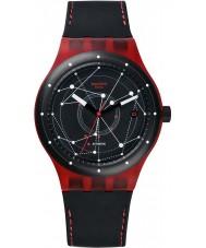 Swatch SUTR400 Sistem51 - sistem czerwony zegarek automatyczny