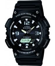 Casio AQ-S810W-1AVEF Kolekcja czarno trudne świecie zegarek solarny razem