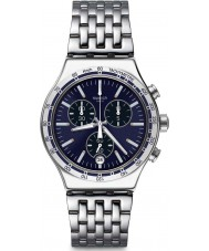 Swatch YVS445G Mężczyzna ubiera mój zegarek na rękę