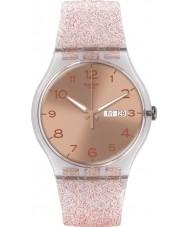 Swatch SUOK703 New Gent - różowa glistar zegarek