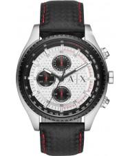 Armani Exchange AX1611 Męskie chronograf czarny skórzany pasek zegarka sportowego