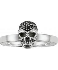 Thomas Sabo TR1877-051-11-56 Panie czarny cyrkonu Pave czaszka srebrny pierścień - rozmiar s.5 (UE 56)