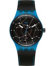 Swatch SUTS401 Sistem51 - sistem niebieski zegarek automatyczny