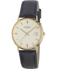 Rotary GS11476-03 Mens metale szlachetne 9ct przypadku złota zegarka