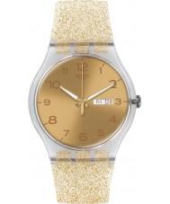 Swatch SUOK704 New Gent - złoty zegarek błyszczą