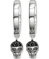 Thomas Sabo CR573-051-11 Panie srebrne czaszki zawiasach kolczyki hoop