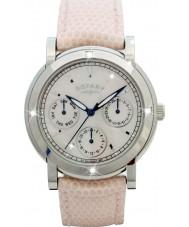Rotary RLS00024-07-W zegarki damskie biały skórzany pasek zegarka Chronograph
