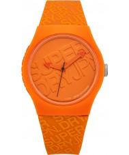 Superdry SYG169O Miejskie silikonowy pasek pomarańczowy zegarek z nadrukowanym logo w kolorze pomarańczowym