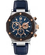 Gc X72025G7S Mężczyźni GC-3 niebieski zegarek chronograf