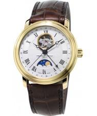 Frederique Constant FC-335MC4P5 klasyki męskie moonphase brązowy skórzany pasek zegarka
