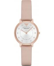 Emporio Armani AR2510 Panie ubierają jasnobrązowy skórzany pasek zegarka
