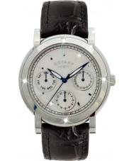 Rotary RLS00024-07-BLK zegarki damskie czarny skórzany pasek zegarka Chronograph