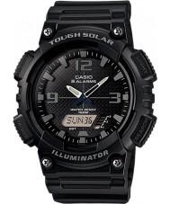 Casio AQ-S810W-1A2VEF Kolekcja czarno trudne świecie zegarek solarny razem