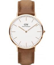 Daniel Wellington DW00100109 Klasyczna 40mm Durham wzrosła złoty zegarek