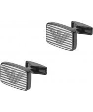 Emporio Armani EGS2179060 Mężczyźni podpisu dwie spinki ton stali