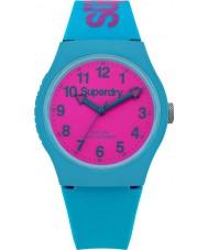 Superdry SYG164AUP teal Miejskie silikonowy pasek zegarka