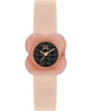 Orla Kiely OK2060 Ladies różowy kwiat maku case nago skórzany pasek zegarka