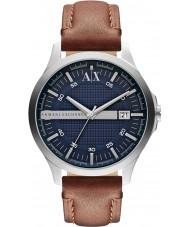 Armani Exchange AX2133 Mens brązowy skórzany pasek strój zegarek