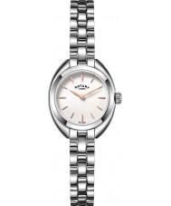 Rotary LB05013-02 zegarki damskie drobna srebrna ton stali zegarek