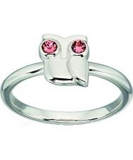 Orla Kiely R3494-54 Panie szterling srebrny pierścień Owl - wielkość n