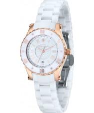 Klaus Kobec KK-10016-01 aurora Women różowe złoto i biały ceramiczny zegarek