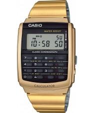 Casio CA-506G-9AEF Kolekcja męska złota tone kalkulator zegarek